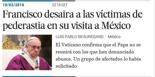 Victimas de abuso sexual desariadas por Bergoglio