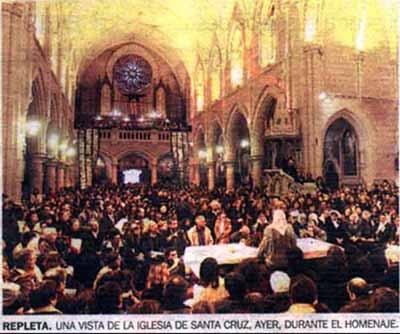 santacruz iglesia profanada